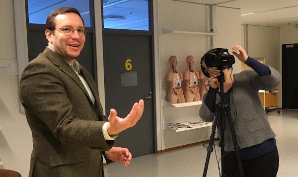 Sampsa Hautaniemi at HERCULES video shoot