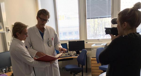 Seija Grenman and Sakari Hietanen at HERCULES video shoot